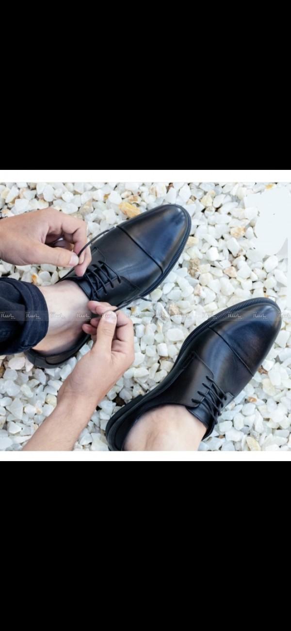 کفش چرم طبیعی گاوی تبریز صادراتی مارکدار jc-تصویر اصلی