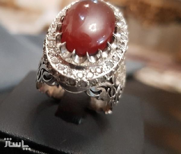 انگشتر نقره عقیق سلطنتی 2-تصویر اصلی