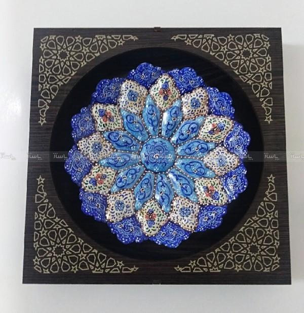 بشقاب میناکاری هنر استاد کاران اصفهان