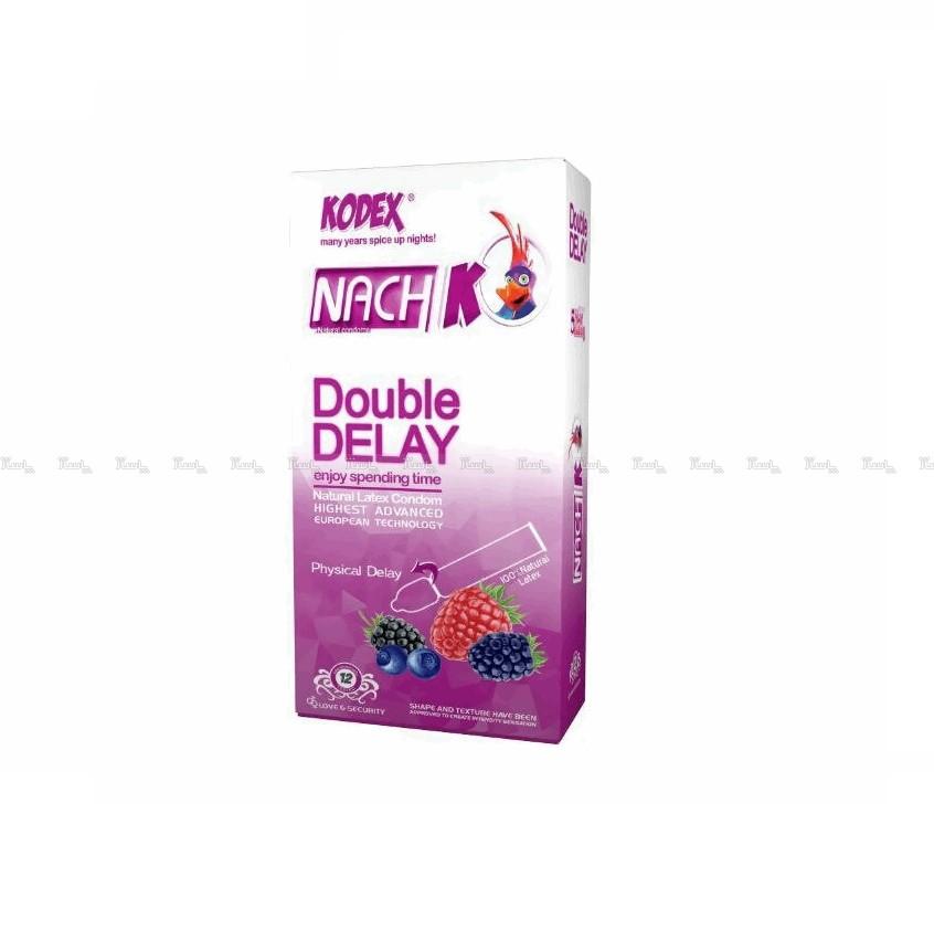 کاندوم تاخیری دوبل ناچ مدل Double Delay بسته 12 عددی-تصویر اصلی