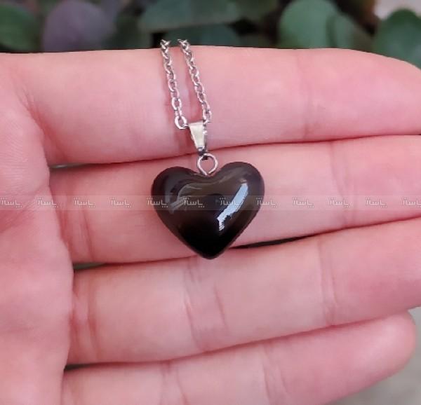 گردنبند عقیق دودی طرح قلب-تصویر اصلی
