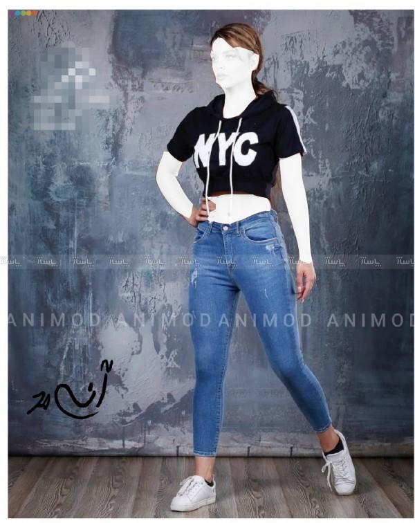 شلوار جین زنانه زاپ دار-تصویر اصلی
