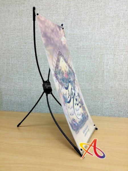 استند رومیزی مشکی سایز A5-تصویر اصلی