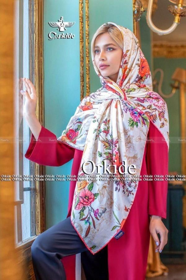 روسری نخی دور دست دوز-تصویر اصلی