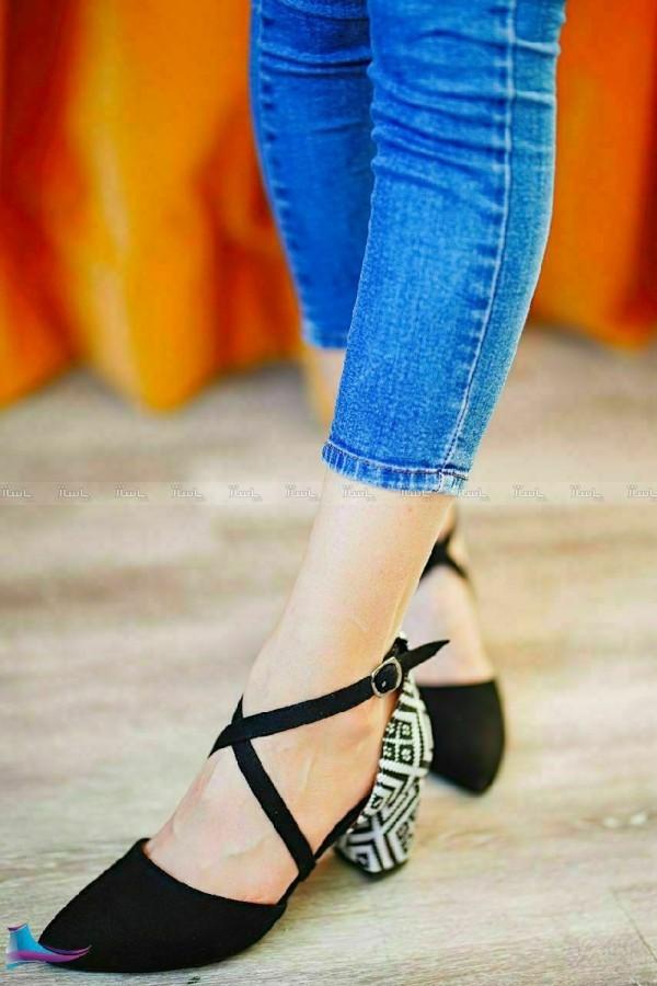 کفش پاشنه ۳ سانت-تصویر اصلی