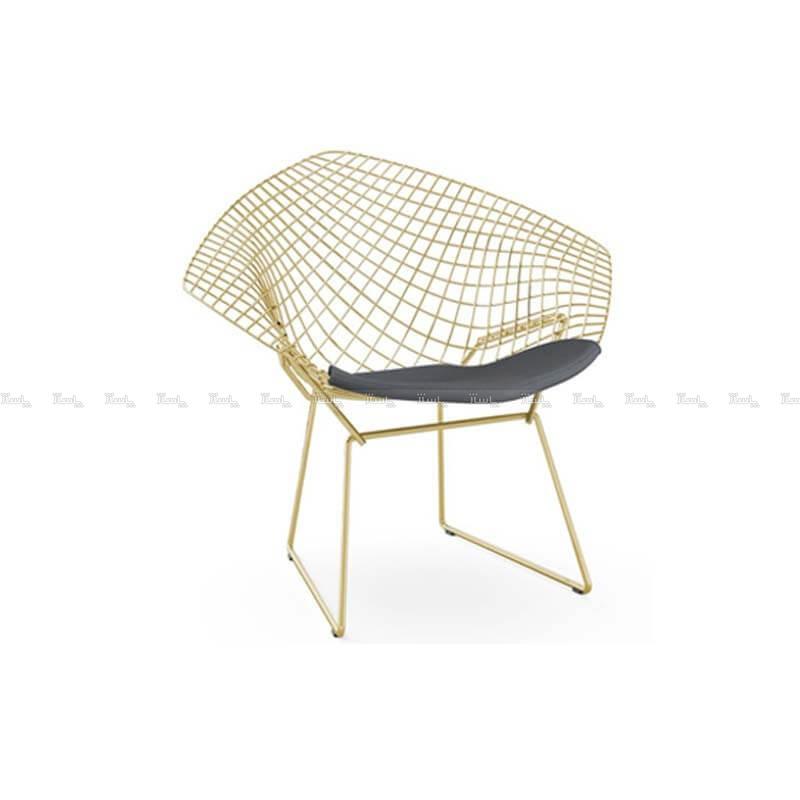 صندلی رستورانی توری فلزی طلایی مدل مونیکا استیل هامون-تصویر اصلی