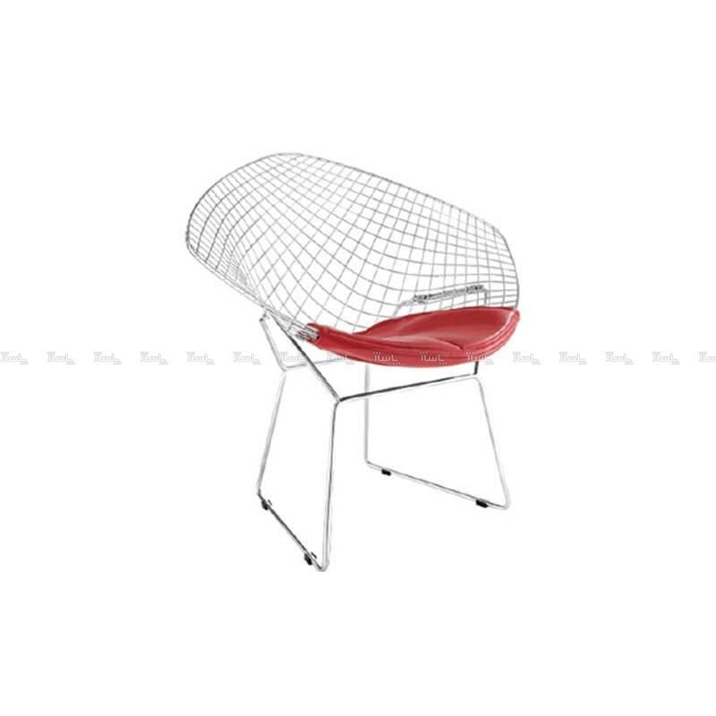 صندلی رستورانی توری فلزی کروم مدل مونیکا استیل هامون-تصویر اصلی