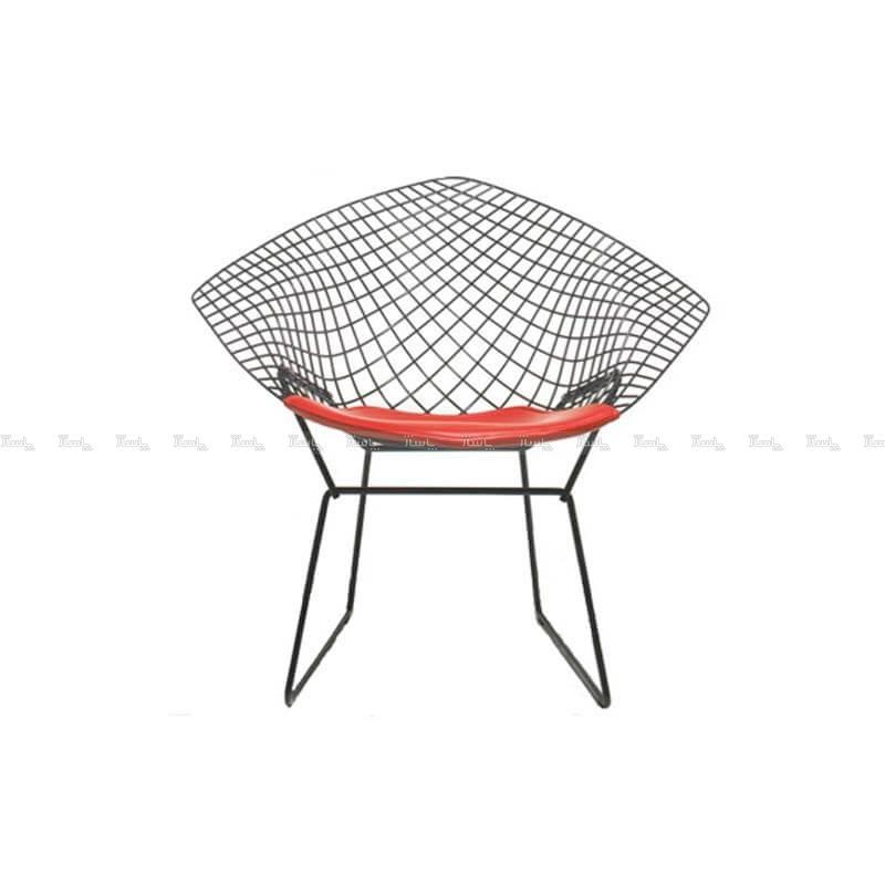 صندلی رستورانی توری فلزی کوره ای مدل مونیکا استیل هامون-تصویر اصلی