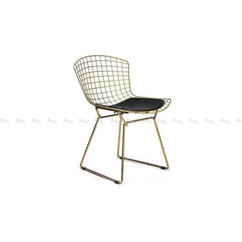 صندلی رستورانی توری فلزی طلایی مدل پارمیدا استیل هامون-تصویر اصلی