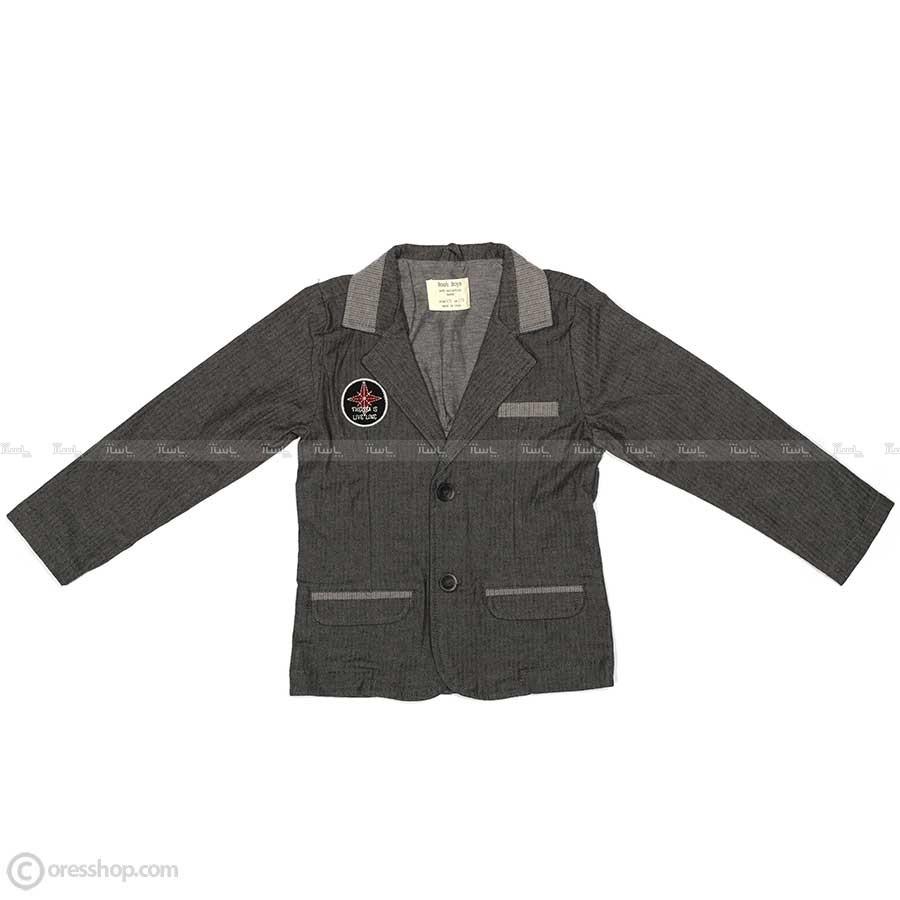 کت تک پسرانه اسپرت طوسی-تصویر اصلی