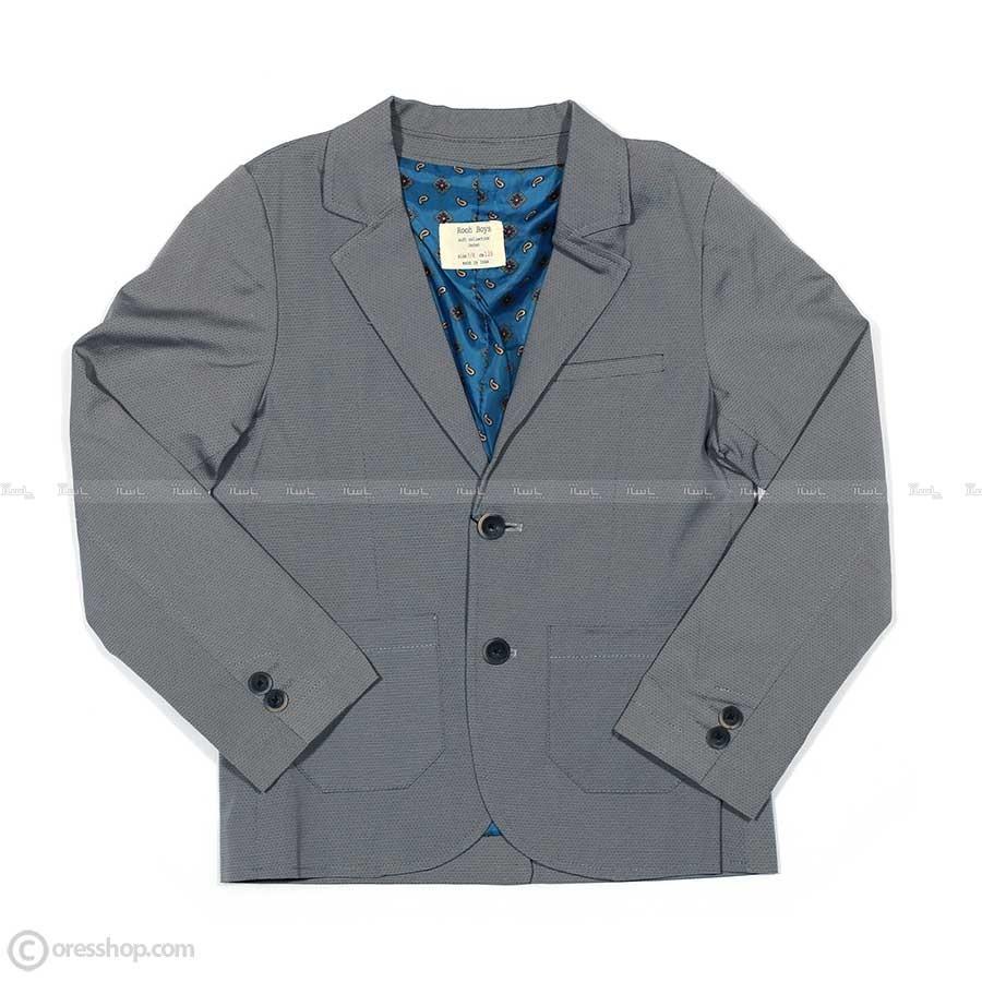 کت پسرانه طوسی-تصویر اصلی