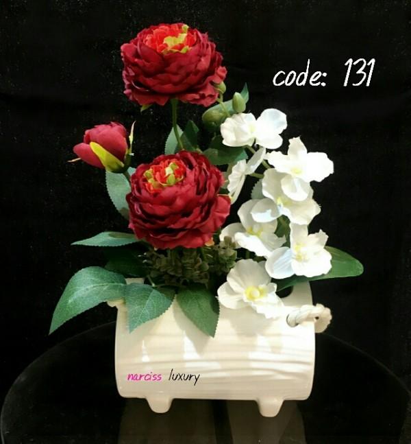 گلدان ارکیده رز سکه ای-تصویر اصلی
