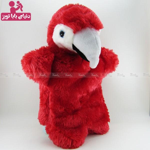 عروسک نمایشی طوطی قرمز-تصویر اصلی