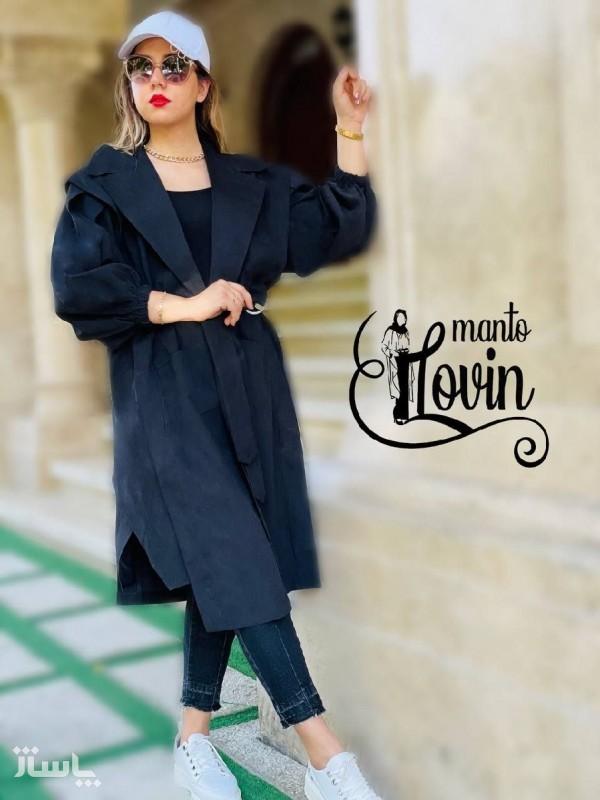 مانتو زنانه میکرو مدل مانتو یقه انگلیسی-تصویر اصلی