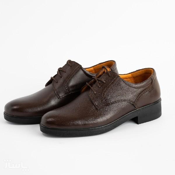 کفش مجلسی تمام چرم گاوی مردانه مدل t24-تصویر اصلی