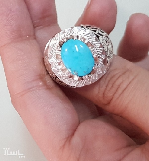 انگشتر نقره فیروز دست ساز-تصویر اصلی
