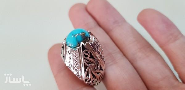 انگشتر فیروز نقره-تصویر اصلی