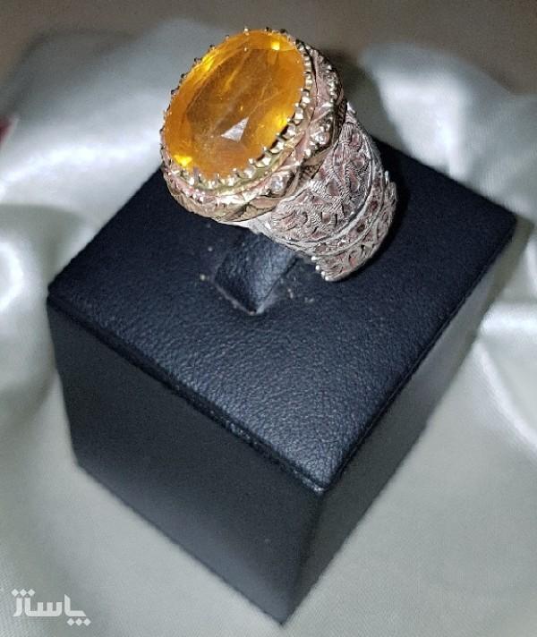 انگشتر نقره یاقوت زرد-تصویر اصلی