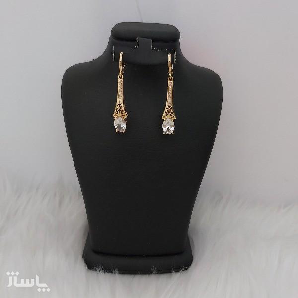 گوشواره زنانه مدل فانتزی طرح الماس کد ng110-تصویر اصلی
