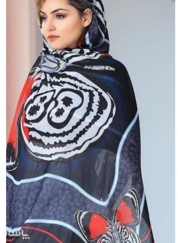 روسری نخی طرح پروانه-تصویر اصلی