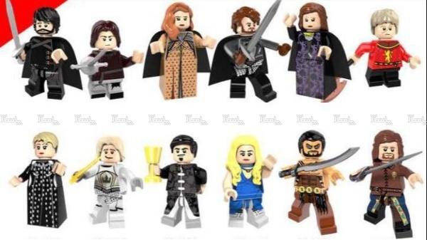 دوازده عدد آدمک لگو سریال Game Of Thrones-تصویر اصلی