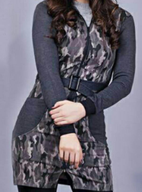 مانتو دخترانه طرح چریكی-تصویر اصلی