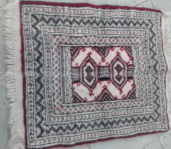 گبه پشمی دستباف.مناسب برای زیرپایی و روی صندلی-تصویر اصلی