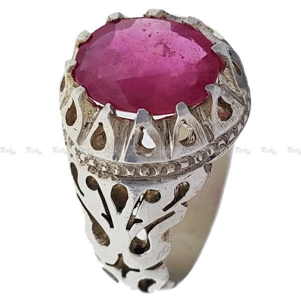 انگشتر نقره یاقوت-تصویر اصلی