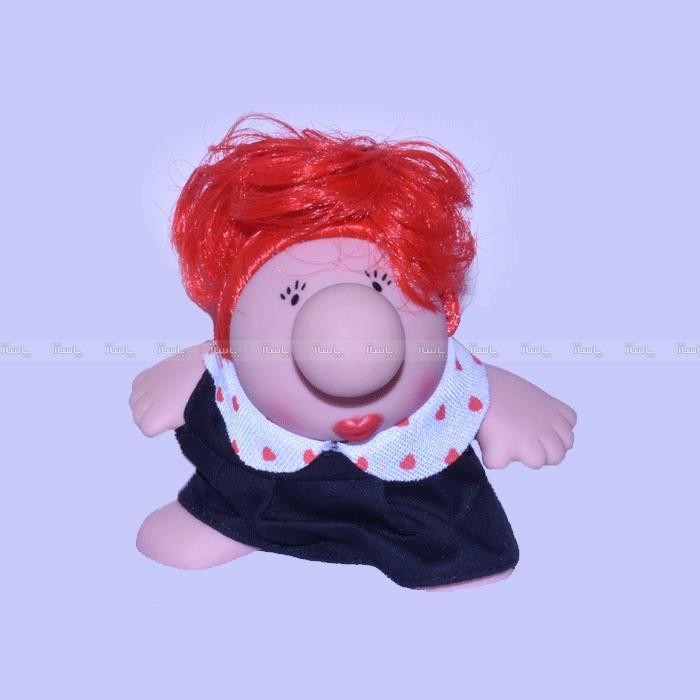 عروسک پالیز سری مستر دماغ مدل مجعد و لباس مشکی-تصویر اصلی