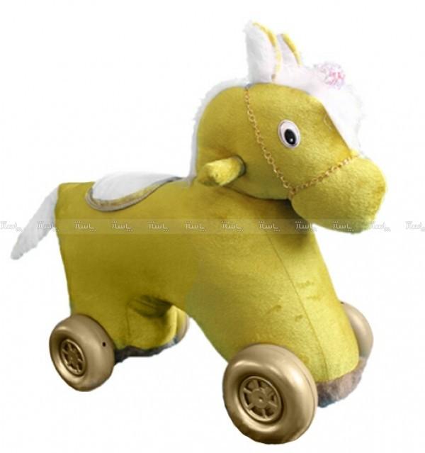 واکرچهارچرخه کودک اسب تکشاخ(باموزیک شیهه وچهار نعل اسب باچراغ چشمک زن)-تصویر اصلی