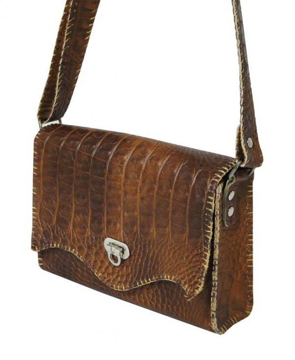 کیف دستی زنانه چرم طبیعی برند گل مریم-تصویر اصلی