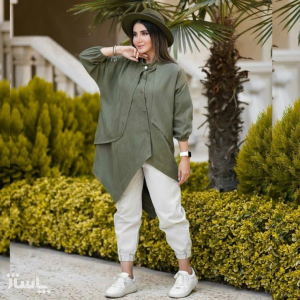 مانتو زنانه میکرو میله ای پاییزه مدل لیوایز-تصویر اصلی