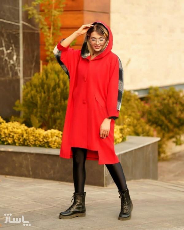 مانتو زنانه میکرو کیمونو جلو دکمه دار ترکیبی مدل آنجلا-تصویر اصلی
