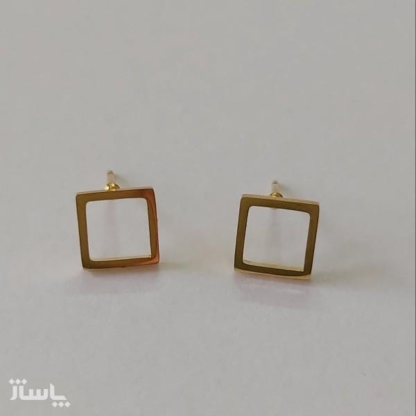 گوشواره زنانه مدل میخی طرح مربع کد shape110-تصویر اصلی