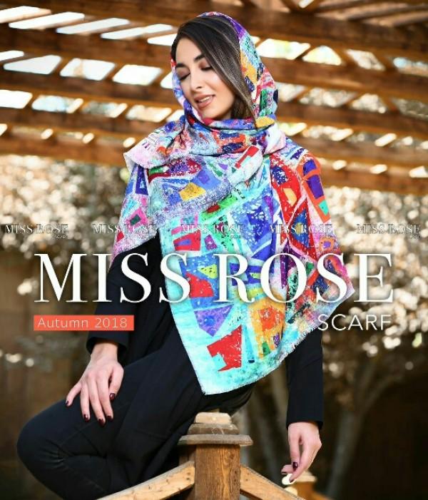 روسری نخی پاییزه میس رز-تصویر اصلی