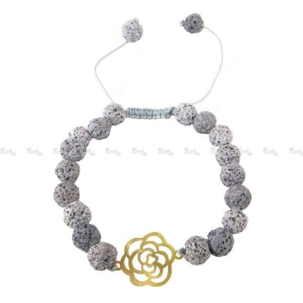 دستبند گل رز ۲۰۰ سوت طلا ۱۸ عیار-تصویر اصلی