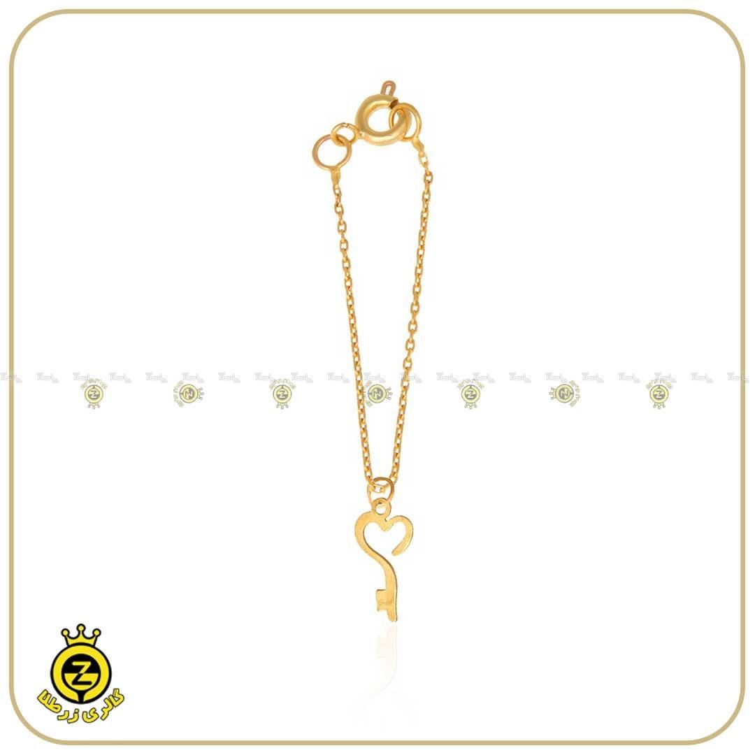آویز ساعت طلا طرح کلید و قلب-تصویر اصلی