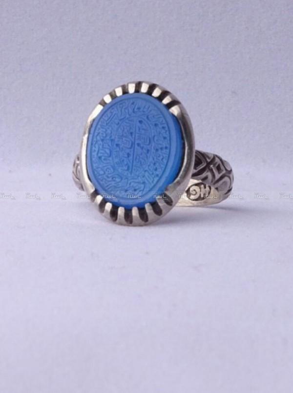 انگشتر عقیق آبی خطی وان یکاد-تصویر اصلی