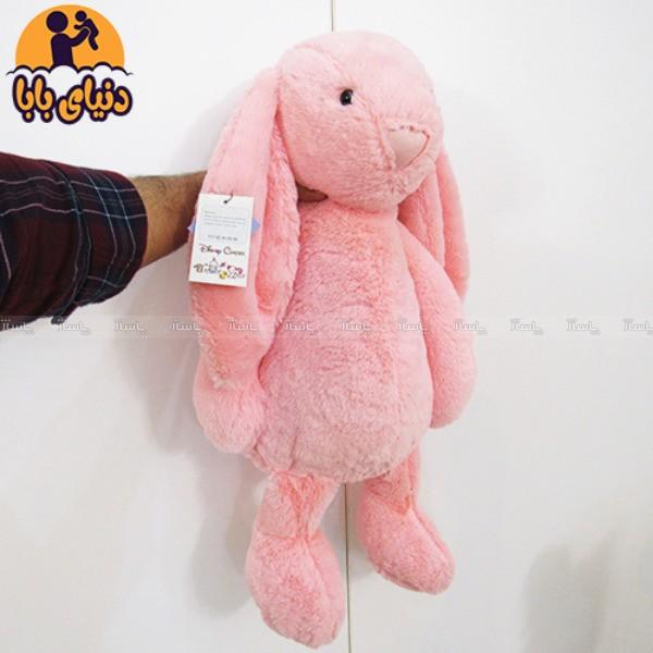 عروسک پولیشی خرگوش جلی کت صورتی رنگ-تصویر اصلی