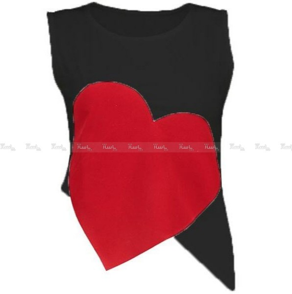 تاپ نیم تنه زنانه مدل قلب-تصویر اصلی