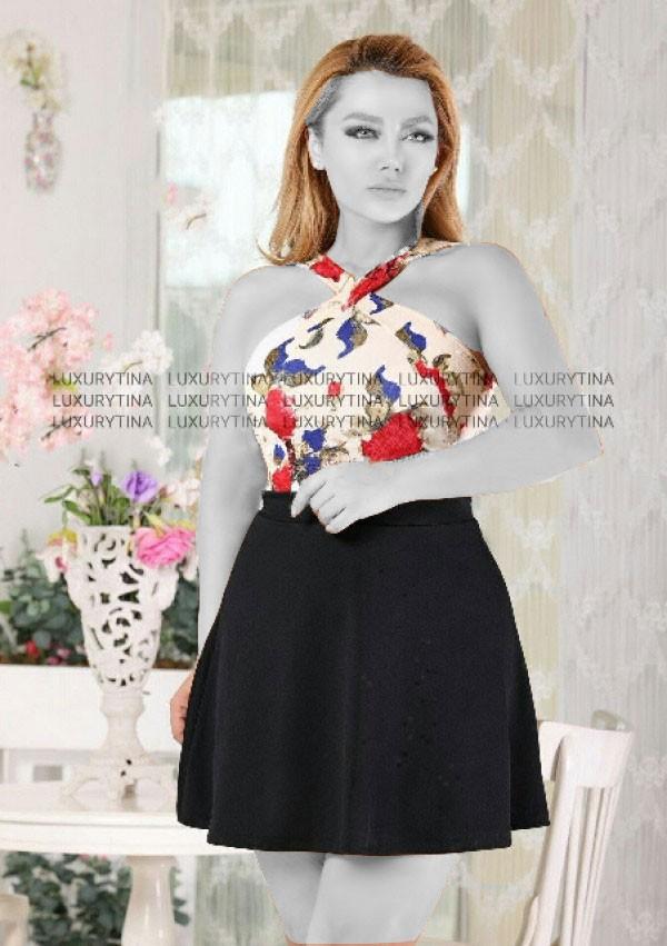 پیراهن کوتاه مدل سولماز-تصویر اصلی