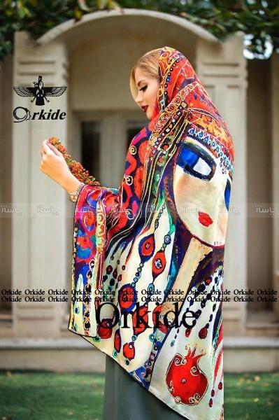 روسری ابریشم توییل ارکیده 122-11-تصویر اصلی