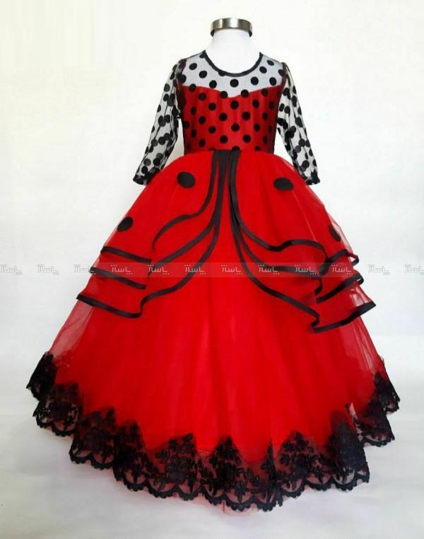 لباس مجلسی دختر کفشدوزکی-تصویر اصلی