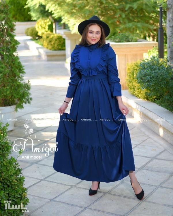 پیراهن شب زنانه کرپ مدل انیل-تصویر اصلی