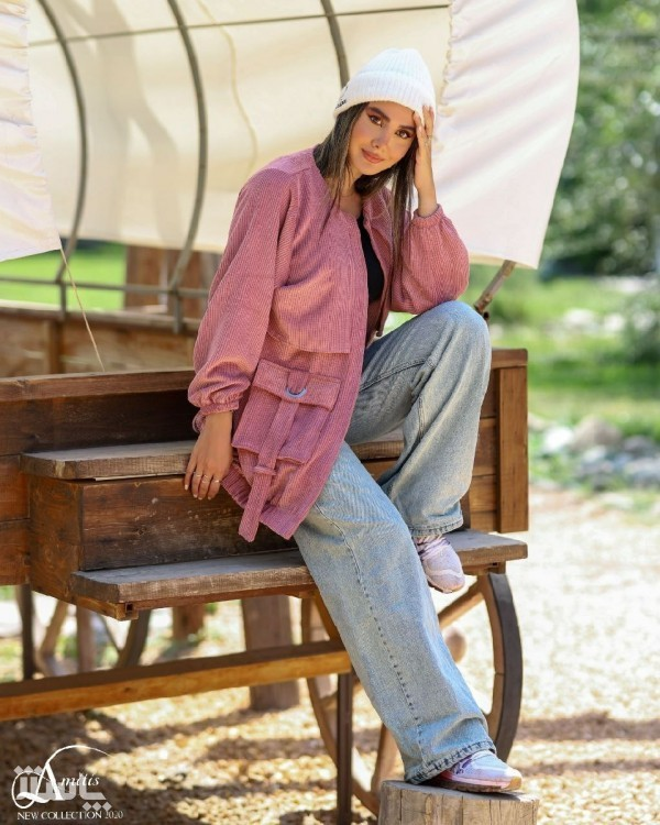 مانتو زنانه مخمل مدل اسپرت-تصویر اصلی