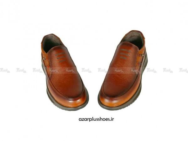 کفش مجلسی مدل اسپورت تمام چرم سناتور عسلی-تصویر اصلی