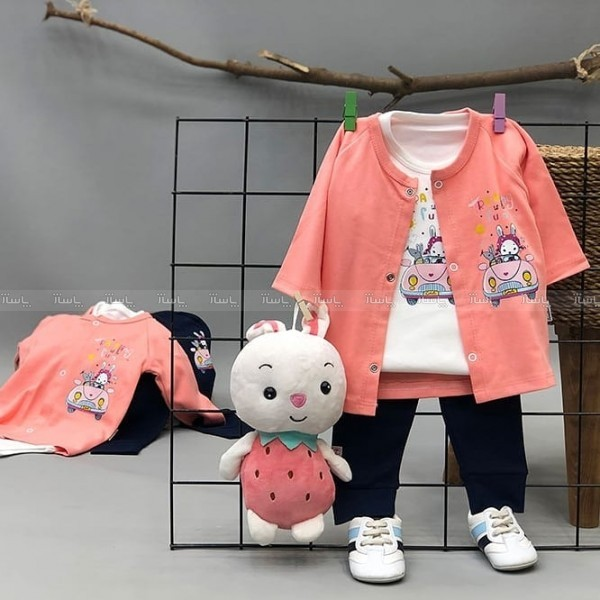سه تیکه نوزادی خرگوش ماشین سوار-تصویر اصلی
