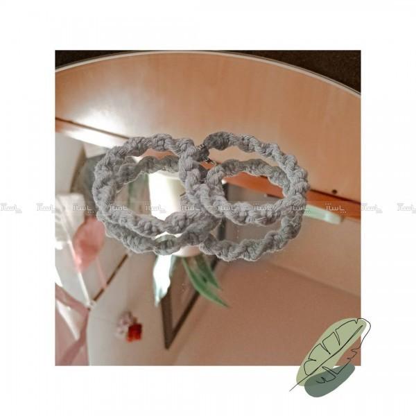 گوشواره دستبافت مکرومه-تصویر اصلی