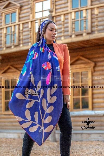 روسری نخ ابریشم گارزا ارکیده 122-29-تصویر اصلی