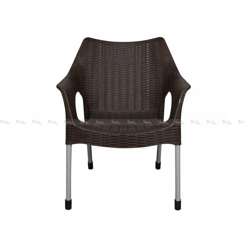 صندلی حصیری پایه فلزی دسته دار-تصویر اصلی